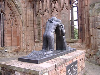 Third prize winner: Reconciliation statue in Coventry Cathedral by Julia