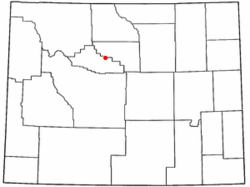 Location of Kirby, Wyoming