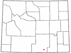 Location of Riverside, Wyoming