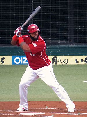 Wily Mo Peña - Peña with the Tohoku Rakuten Golden Eagles in 2015