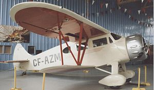 Waco Custom Cabin series - Waco EQC-6 marked as Grant McConachie's aircraft