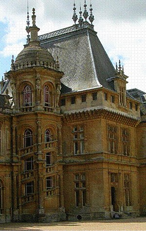 Biltmore Estate - Waddesdon Manor was a principal source for the east elevation