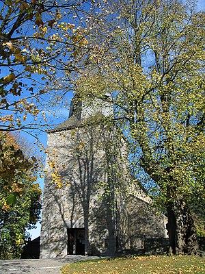 Waha - Waha, church tower St-Etienne