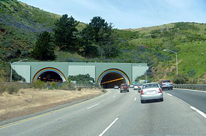Waldo Grade - The southern portal of the Robin Williams Tunnel