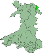 Alyn and Deeside shown within Wales