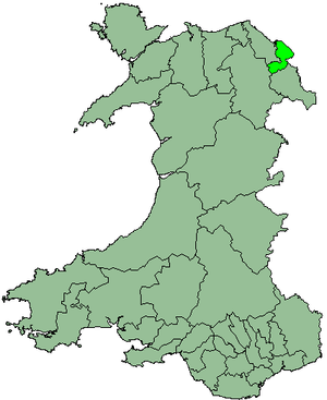 District of Alyn and Deeside - Alyn and Deeside shown within Wales