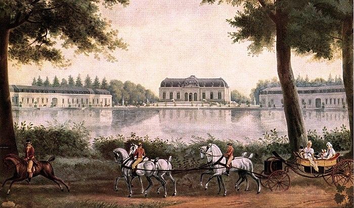 Wandgemälde von Schloss Benrath, Maler Antoine Charles Horace Vernet 1806-Ausschnitt