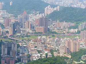 Wenshan District - Image: Wanshin Village, Wenshan District View from Maokong Gondola 20131002