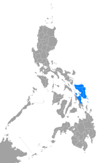 Waray-Waray language map.png