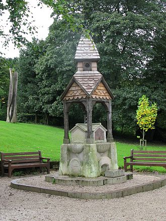 Warley, West Midlands - The Edwardian drinking fountain in Warley Woods Park, in 2013