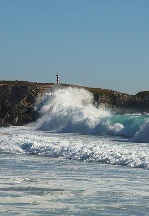 English: Surf at the Praia Grande, Porto Covo,...