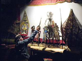 Shadow play - Wayang kulit shadowplay performance in Yogyakarta