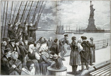 New York - Welcome to the land of freedom, Frank Leslie's illustrated newspaper, pp. 324-325