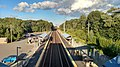 Westborough station platforms from pedestrian bridge, September 2016.jpg
