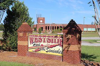 Westside High School (Macon, Georgia) - Image: Westside High School sign, Macon