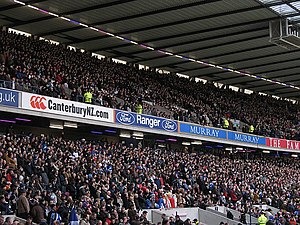Rugby union in Scotland - The West Stand of Murrayfield Stadium, demonstrating the popularity of Scottish rugby at international level