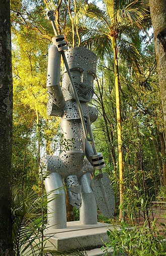 Manawatu Gorge - Whatonga sculpture along Manawatu Gorge Track