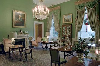 Green room - Green Room at the White House, named for its predominantly green color.