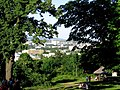 Widok na Kielce u wrót Rezerwatu Karczówka - panoramio.jpg