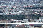 Wien-Donauturm, Blick zum Gefechtsturm Augarten.JPG