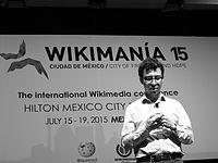 Wikimanía 2015 - Day 4 - Luis von Ahn conference - LMM (25).JPG