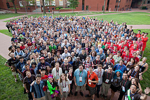 Wikipedia community - Wikimania 2012 group photograph
