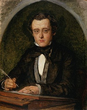 Wilkie Collins - Portrait by Charles Allston Collins, 1853