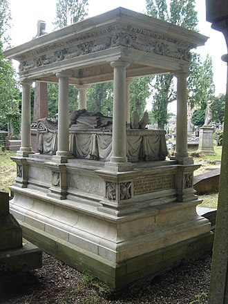 William Mulready - Funerary monument, Kensal Green Cemetery, London
