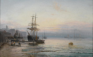 William Anslow Thornley - Low tide at Whitby.jpg