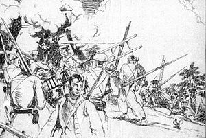 Sir William Gooch, 1st Baronet - Gooch's American Marines in the attack on Fort San Lazaro at Cartagena in 1741