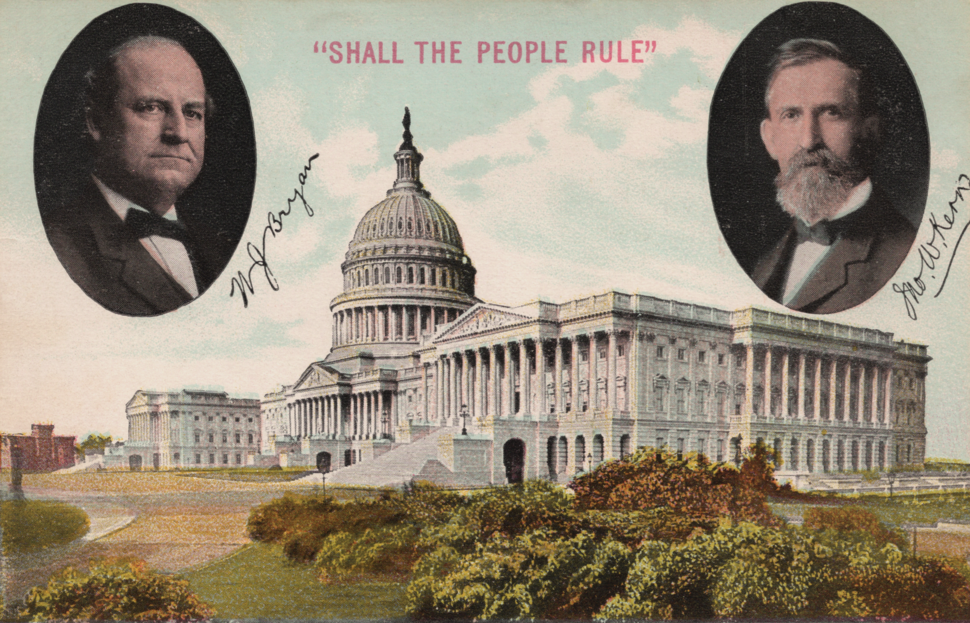 William Jennings Bryan 1908 campaign postcard