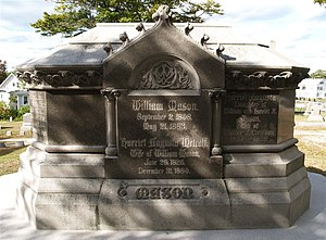 William Mason (locomotive builder) - The grave of William Mason, Taunton, Massachusetts