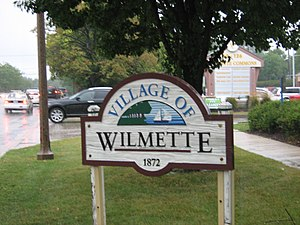 Wilmette, Illinois - Image: Wilmette sign