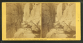 Winter view of the Flume, taken Apr. 29, 1869, Franconia Mts., N.H, by H. S. Fifield.png
