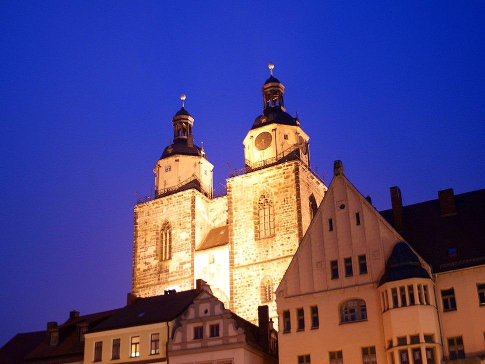 Wittenberg - Stadtkirche nachts