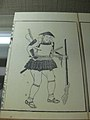 Woodblock print of a samurai or ashigaru carrying a tanegashima (matchlock).jpg