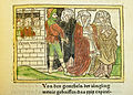 Woodcut illustration of the wives of the Minyans enabling their husbands' escape from prison - Penn Provenance Project.jpg