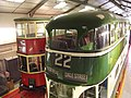 Workshop Viewing Gallery and Exhibition - National Tramway Museum - Crich - London Transport 1 & Liverpool 869 (15359963026).jpg