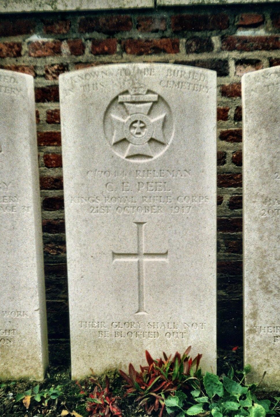 World-war-one-gravestone-clarence-peel.redvers