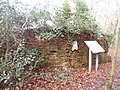 World War II field artillery emplacement, Moor Park, Farnham 18.jpg