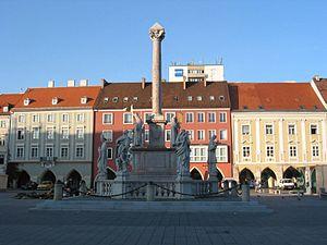 Wiener Neustadt - Mariensäule column in Wiener Neustadt