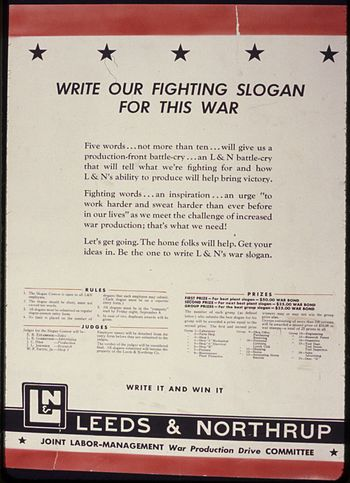 Write Our Fighting Slogan For this War - NARA ...