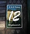 Wuppertal, Berghauser Str. 12, Hausnummernschild.jpg