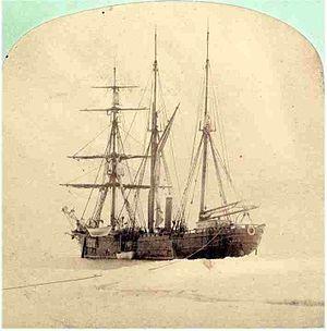 Count Johann Nepomuk Wilczek - Expedition ship Admiral Tegethoff near Barents Island
