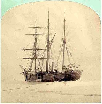 Austro-Hungarian North Pole expedition - The Tegetthoff trapped in the ice