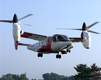 Tiltrotor - A Bell XV-15 prepares to land