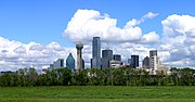 Dallas skyline from the Trinity River floodplain