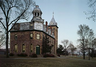 Yankton, South Dakota - The conservatory building on the former Yankton College campus - now a federal prison.