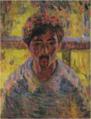 YorozuTetsugorō-1912-Self-Portrait in Pointillism Style.png