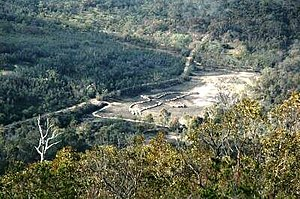 You Yangs - View of the Bunjil geoglyph from Flinders Peak